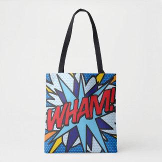 Comic-Buch-Pop-Kunst WHAM! KNALL! Tasche