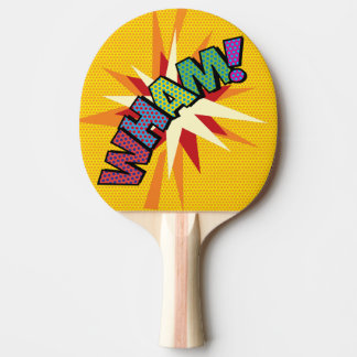 Comic-Buch-Pop-Kunst WHAM! Tischtennis Schläger