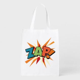 Comic-Buch-Pop-Kunst ZAP! KRIEGSGEFANGEN! Wiederverwendbare Einkaufstasche