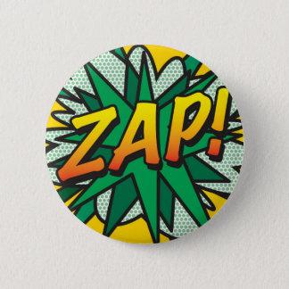 Comic-Buch-Pop-Kunst ZAP! Runder Button 5,1 Cm