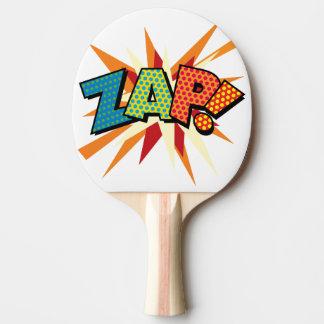 Comic-Buch-Pop-Kunst ZAP! Tischtennis Schläger