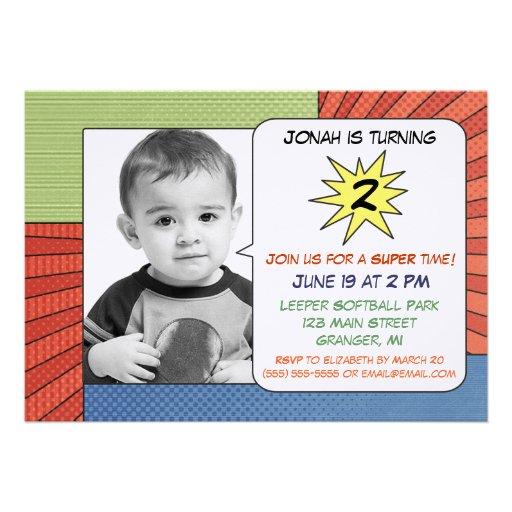 Comic-Buch Stripes Geburtstags-Party Einladungen