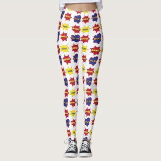 Comic-Buch-Text-Blasen Leggings