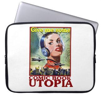 "Comic-Buch Utopie Retro 15"" Laptop-Abdeckung Computer Schutzhüllen"