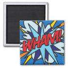 Comic-Buch WHAM! Quadratischer Magnet