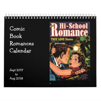 Comic-Buchromances-Sept. 2017 - August 2018 Abreißkalender