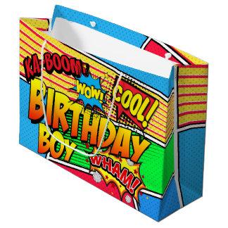 Comic-Buchsuperhero-Geburtstags-Party-Gewohnheit Große Geschenktüte