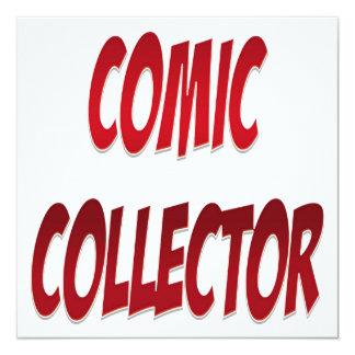 Comic-Kollektor-Rot Quadratische 13,3 Cm Einladungskarte