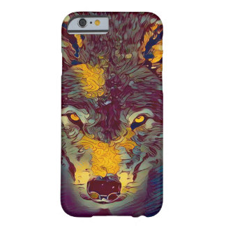 Comic-Kunst-Wolf-Tier-Grafik iPhone 6/6s Fall Barely There iPhone 6 Hülle