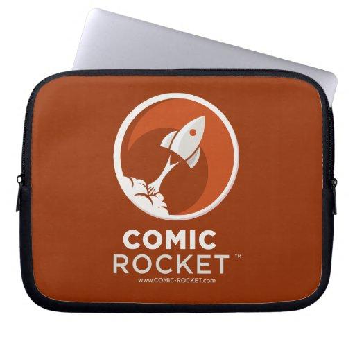 Comic-Rocket-Logo-dunkle Laptop-Hülse Laptop Computer Schutzhüllen