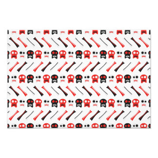 Comic-Schädel mit buntem Muster der Knochen Fotodruck
