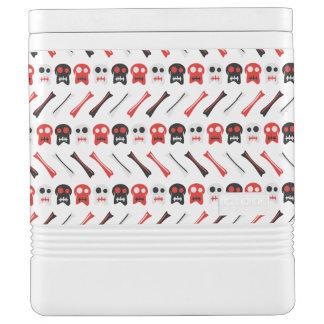 Comic-Schädel mit buntem Muster der Knochen Igloo Kühlbox