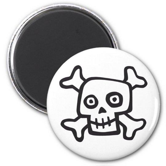 comic skull runder magnet 5,7 cm