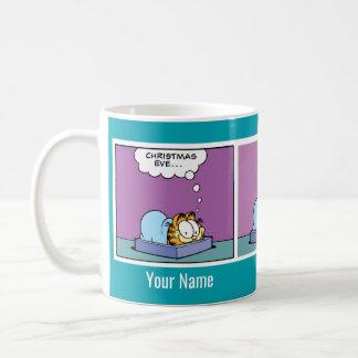 """Comic-Streifen-Tasse """"Weihnachtsabends"""" Garfield Kaffeetasse"""
