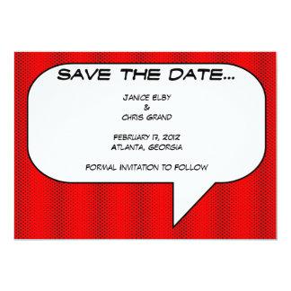 Comicbuch Save the Date 12,7 X 17,8 Cm Einladungskarte
