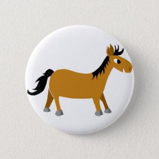 Comicpferd Runder Button 5,1 Cm