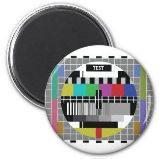 Common Test PAL Tv Runder Magnet 5,7 Cm