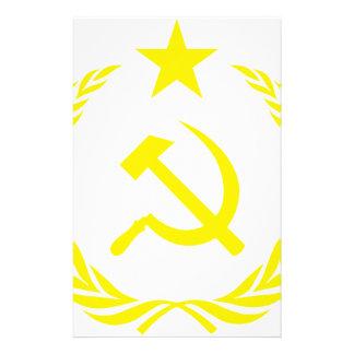 Communiste kalter Kriegs-Flagge Briefpapier