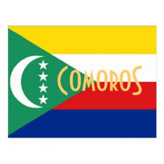 Comoren die Postkarte der comorischen Inseln