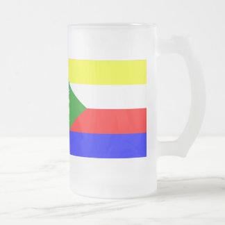 Comoren-Flagge Mattglas Bierglas
