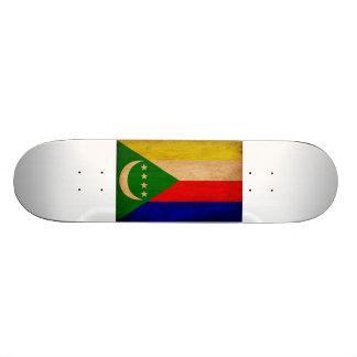 Comoren-Flagge Skateboardbrett