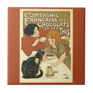 Compagnie Chocalats Vintage Anzeige-Franzosen Keramikfliese