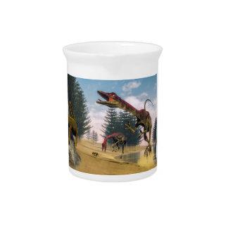 Compsognathus Dinosaurier - 3D übertragen Getränke Pitcher