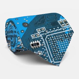 Computer-Aussenseiter-Leiterplatte - Blau Bedruckte Krawatte
