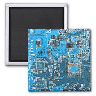 Computer-Aussenseiter-Leiterplatte - Blau Kühlschrankmagnete