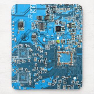 Computer-Aussenseiter-Leiterplatte - Blau Mousepads