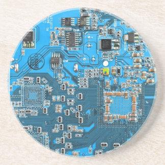 Computer-Aussenseiter-Leiterplatte - Blau Untersetzer