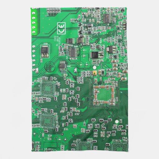 Computer-Aussenseiter-Leiterplatte - Grün Küchenhandtücher