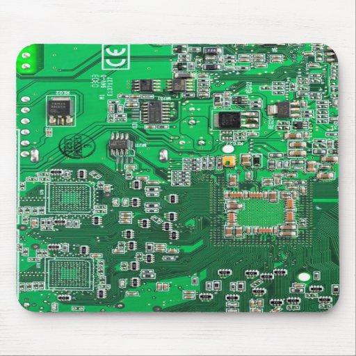 Computer-Aussenseiter-Leiterplatte - Grün Mousepads
