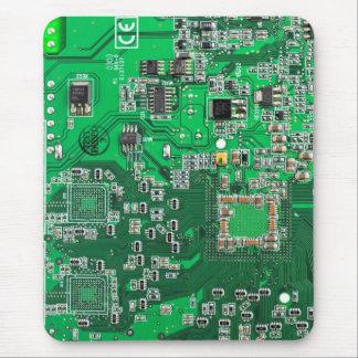 Computer-Aussenseiter-Leiterplatte - Grün Mauspads