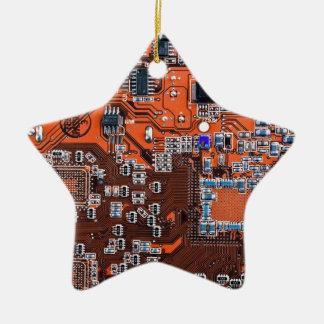 Computer-Aussenseiter-Leiterplatte - Orange Keramik Ornament