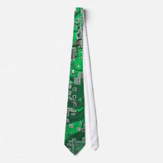Computer-Aussenseiter-Leiterplattegrün Bedruckte Krawatten