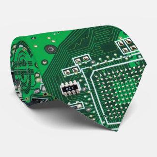 Computer-Aussenseiter-Leiterplattegrün Krawatte