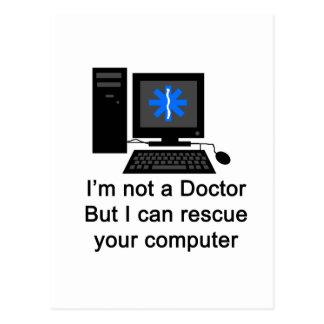 Computer-Doktor Postkarte