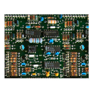 Computer-Elektronik-Leiterplatte Postkarte