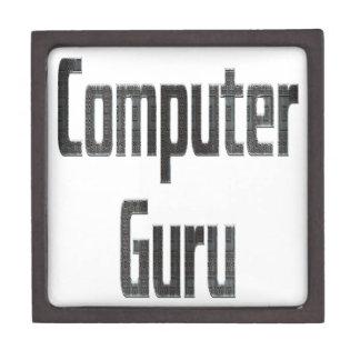 Computer-Guru-Grau Schmuckkiste