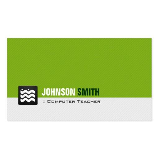 Computer-Lehrer - Bio grünes Weiß Visitenkarten Vorlagen