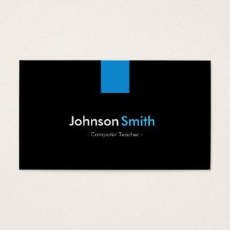 Computer-Lehrer-modernes Aqua-Blau Visitenkarte