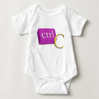 Computer-Nerd-Zwillings-Baby 1 von 2 (Ctrl C) Baby Strampler