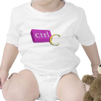 Computer-Nerd-Zwillings-Baby 1 von 2 (Ctrl C) Strampler
