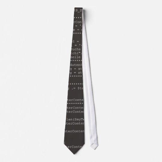 Computer programming source code krawatte