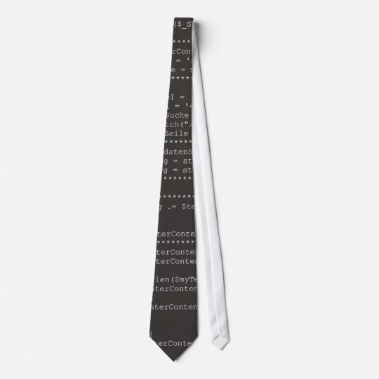 Computer programming source code krawatten