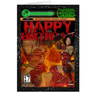 Computer-Spiel-Fan-Geburtstags-Karte siebzehn Karte