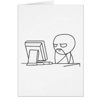 Computer-Typ Meme - Gruß-Karten-Vertikale Grußkarte