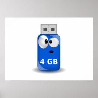 Computer USB-Blitz-Antrieb Plakatdruck
