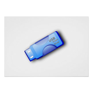 Computer USB-Blitz-Antrieb Plakatdrucke